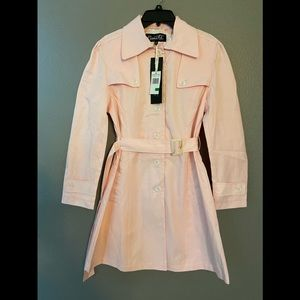 Nanette Leopore pink trench coat